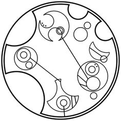 """""""Just make it a good one"""" written in circular Gallifreyan requested by zekecrowstiel"""