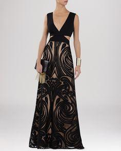 BCBGMAXAZRIA Gown - Marilyne Cutout Soutache Skirt | Bloomingdale's