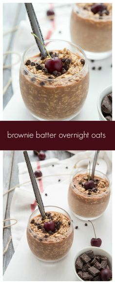 Double-Chocolate Brownie Batter Overnight Oats