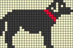 Dog perler bead pattern