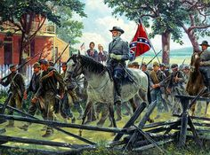 Oh, I Wish He Was Ours!  Gettysburg Campaign June 26, 1863 by Mort Kunstler