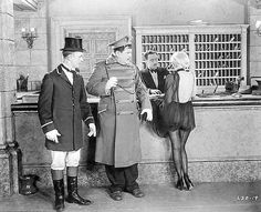 """Stan Laurel, Oliver Hardy and Jean Harlow in """"Double Whoopee"""", 1929 Laurel And Hardy, Stan Laurel Oliver Hardy, Great Comedies, Classic Comedies, Classic Movies, Jean Harlow, Classic Hollywood, Old Hollywood, Hollywood Stars"""