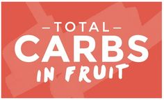 There's lots of confusion around low carb fruits and high carb fruits. This handy chart breaks it down for you. Carbs In Fruit, High Carb Fruits, No Carb Recipes, Healthy Eating Recipes, Healthy Snacks, Healthy Sweets, Stay Healthy, Clean Recipes, Diabetic Recipes