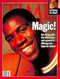 "Magic Johnson - Feb 1996 ""Aids"" covers"