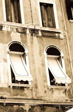 etsy:: Venice Windows Sepia Photograph
