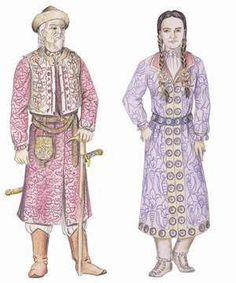 Viselet a honfoglalás korában Russian Traditional Dress, Traditional Dresses, Hungarian Embroidery, 11th Century, Ancient Symbols, Hungary, Medieval, Shirt Dress, Costumes