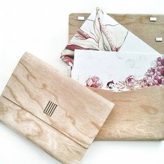 Illustrated postcards edition in woodcovered case on Behance