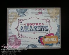 Kelly Rose, Independent Stampin' Up! Demonstrator: Stampin' Up! You're Amazing