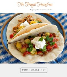 Grilled Chicken Tacos with Avocado Mango Salsa   Frugal Hausfrau. Quick, under 30 minutes, Easy and Fresh!