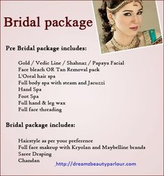 Special Packages For Bridals In Dreamz Beauty Parlour At AS Rao Nagar HyderabadFor