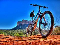 7. Mountain bike in Sedona, Arizona