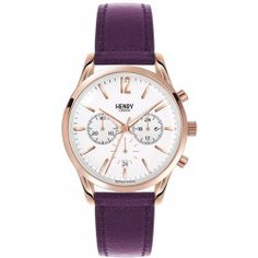 Henry London - Ladies 39mm Hampstead Chronograph Leather Watch