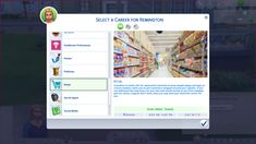 Mod The Sims - Retail Career — Rabbit Hole Career for TS4 (Reupload)