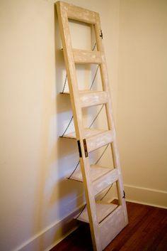 Vintage Door Repurposed  Bookshelf- Crackled and Tan (007). $175.00, via Etsy.