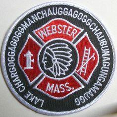 Lake Chargoggagoggmanchauggagoggchaubunagungamaugg, Massachusetts.  Fire Department Patch.
