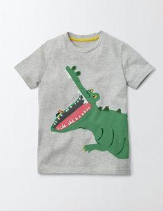 Animal Appliqué T-Shirt 23069 Short Sleeved Tops at Boden