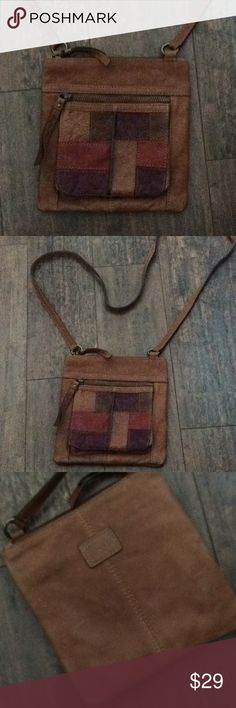Fossil patchwork crossbody bag Leather nice like new bag. 8x8 Fossil Bags Crossbody Bags