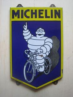 Vintage Michelin porcelain sign 1940's