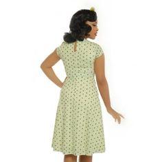 'Juliet' Cream Clover Print Tea Dress