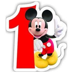 Encontre este Pin e muitos outros na pasta Mickey & Friends Birthday Number 1 Shaped Cake Candle & Garden - A B C & Zahlen - Aniversario Mickey Birthday Cakes, Happy Birthday Mickey Mouse, Friend Birthday, Lotus Birthday Candle, Birthday Cake With Candles, Theme Mickey, Mickey Party, Disney Mickey Mouse, Imprimibles Mickey Mouse