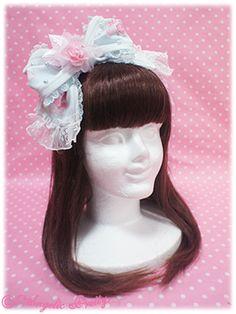 AP - Romantic Rose Letter headbow (MINT) - ¥3,675