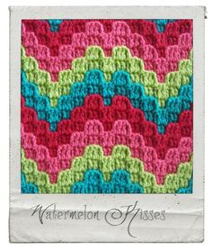 Watermelon Kisses - Bargello Crochet