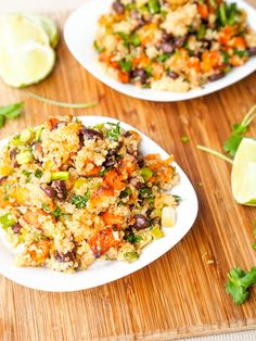 A vibrant, healthy and nutritious rainbow colored vegan sweet potato, black bean quinoa salad is perfect to celebrate Cinco de Mayo or just about any day of the year. Filled with fresh herbs and a zesty lime based dressing. Gluten-Free too.
