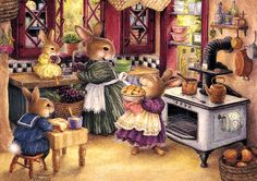 Risultati immagini per susan wheeler illustrator Susan Wheeler, Bunny Art, Cute Bunny, Lapin Art, Art Fantaisiste, Beatrice Potter, Children's Book Illustration, Book Illustrations, Whimsical Art