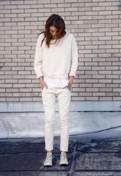 Inspiration of OV. Ivory or cream or beige outfit.