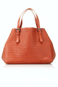 Bottega Veneta Intrecciato Nappa Cinched Tote In Rust - wow!