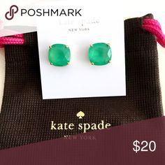 "Kate Spade earrings Kate Spade ""gumdrop"" earrings. Green, with slight transparency. Always popular. kate spade Jewelry Earrings"