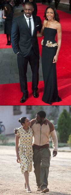 """Stars Idris Elba (41) & Naomie Harris (37) walked the red carpet at the Mandela premiere - The acting pair, who play Nelson and Winnie Mandela in the upcoming film, were completely unaware as they posed for photos that literally a few hours later, the 95-year-old's icon passing would be announced.""""Tonight is extra special because this is my country and when the royals come out to watch a film, it's a big deal."""""""