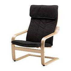 POÄNG Cojín de sillón - Alme negro - IKEA