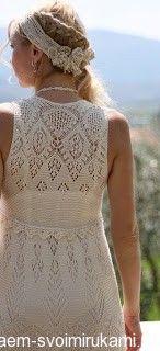 Ажурное платье спицами по шотландским мотивам | Своими руками — для творческих людей.