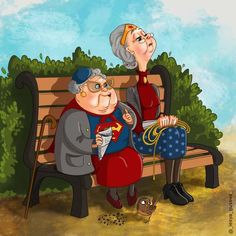 16 Marvel And DC Characters' Daily Lives After Retirement, As Illustrated By This Artist - 9GAG