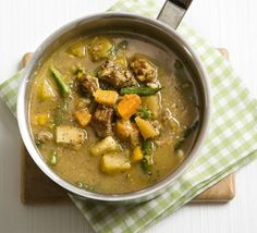 Lamb and Barley soup - This Lancashire hotpot in soup form is nourishing and filling, but low in fat