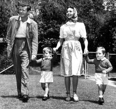 Jennifer Jones & Robert Walker, and their boys.