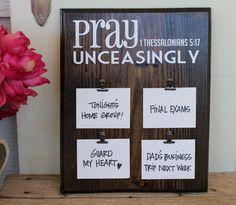 Prayer Display Board by SimpleFaithShop on Etsy, $16.99