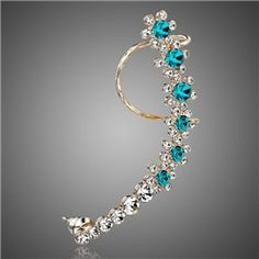 OL Style Punk Trendy Full Crystal Cuff Earring from EricDresses on less price. Use coupon and promotional codes.