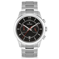 SPECS Polished Silver316L Surgical Grade StainlessSteel Sapphire-Coated Crystal Glass (scratch resistant) Seiko Mecha-Quartz Movement 10 ATM Water Resistant Luminous Hands...
