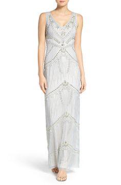 Silver Grey Art Deco Inspired Dress