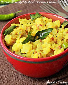 Potato Masiyal/Mashed Potatoes Indian Style