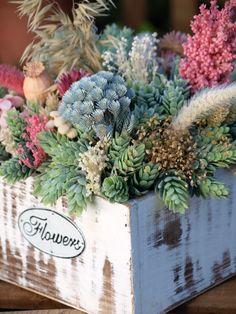 centro de mesas con flores secas - Cerca amb Google