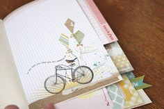 mixed size pages homemade day book