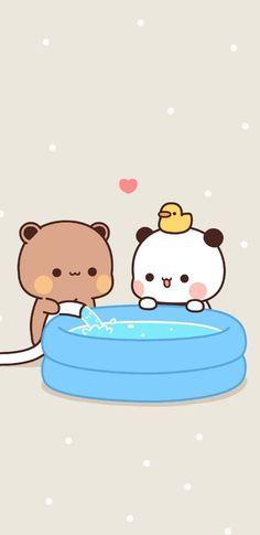 Cute Panda Wallpaper, Chibi Wallpaper, Kawaii Wallpaper, Cute Wallpaper Backgrounds, Chibi Cat, Kawaii Chibi, Cute Chibi, Cute Animal Drawings Kawaii, Cute Kawaii Animals