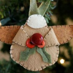 Use the free template to stitch up an adorable angel ornament.