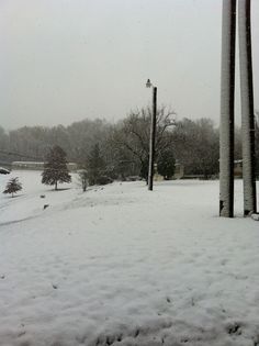 Miranda Capehart sent this picture in from Huntington from Monday's snow.