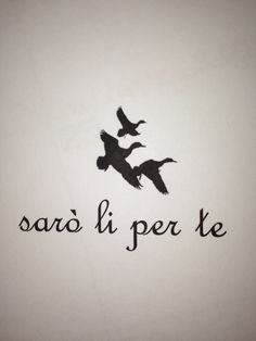 "Different bird....sibling tattoo ""I'll be there for you"" in Italian"