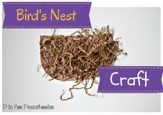 Bird's Nest Spring Craft | P is for Preschooler