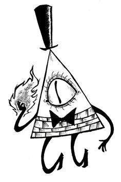 Bill Cipher Coloring Pages Creepy Drawings, Dark Art Drawings, Fall Drawings, Pencil Art Drawings, Tattoo Drawings, Drawing Sketches, Tattoos, Gravity Falls Bill Cipher, Gravity Falls Art